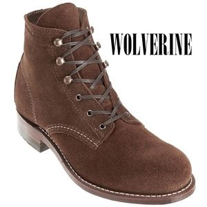 New WOLVERINE 1000 Mile Lace-Up Suede Bootie 7